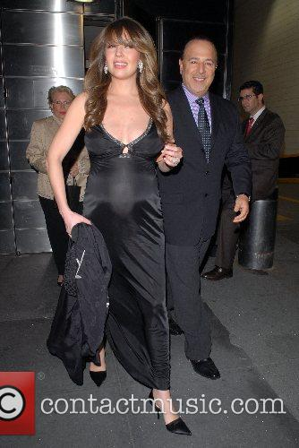 Thalia, Tommy Mottola Celebrities out and about in...