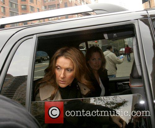 Celine Dion leaving ABC Studios after her appearance...