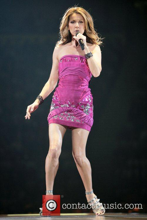 Celine Dion performs in concert at the Manchester...