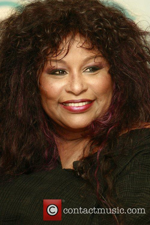 Chaka Khan speaks at a press conference a...