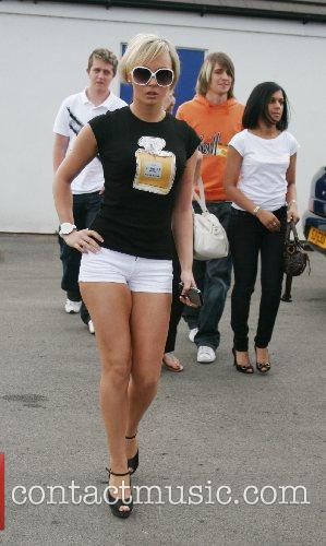 Chanelle Hayes  kicks off the charity football...