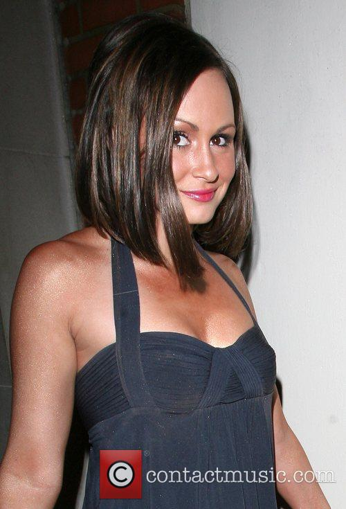 Chanelle Hayes arriving at Funky Buddah nightclub.