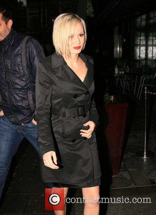 Chanelle Hayes leaving Embassy nightclub after attending the...