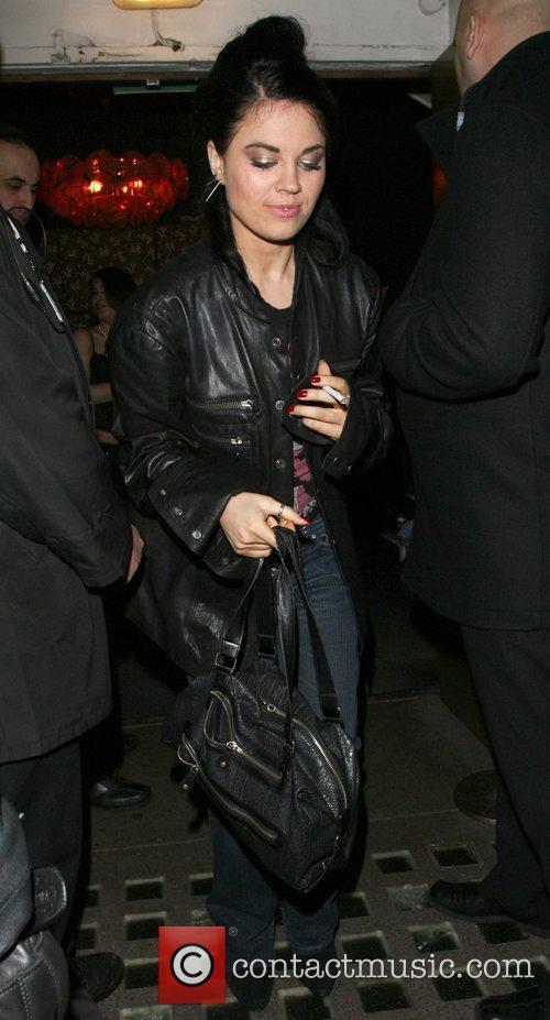 Glamour Model Monica Harris leaving Chinawhite's nightclub