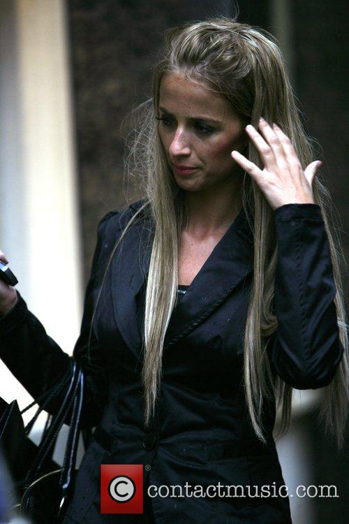 Chantelle Houghton and ex-husband seen together, walking up...