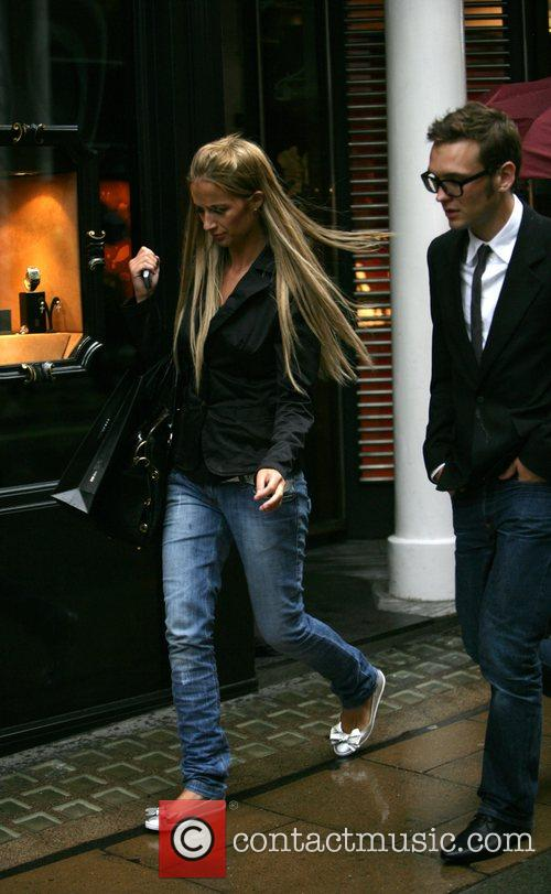 Chantelle Houghton and Samuel Preston seen together, walking...