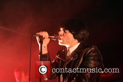 Tim Burgess of the Charlatans performing at The...