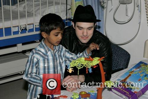 Charlie Cox, The Star Of Movie Stardust and Visits The Children's Ward At St. Mary's Hospital With An Ambassador Of The Starlight Children's Foundation 4