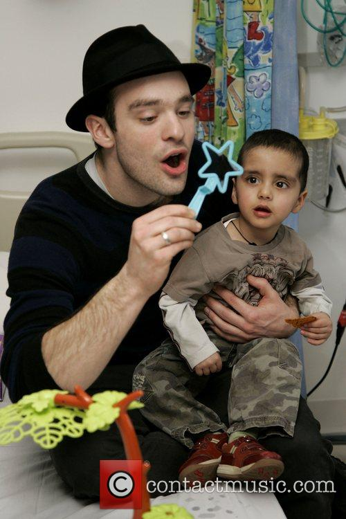Charlie Cox, The Star Of Movie Stardust and Visits The Children's Ward At St. Mary's Hospital With An Ambassador Of The Starlight Children's Foundation 6