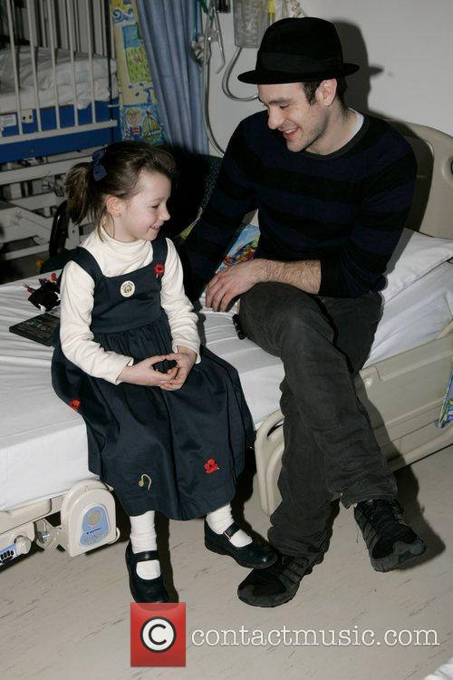 Charlie Cox, The Star Of Movie Stardust and Visits The Children's Ward At St. Mary's Hospital With An Ambassador Of The Starlight Children's Foundation 1