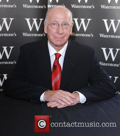 Bobby Charlton at a book signing for his...