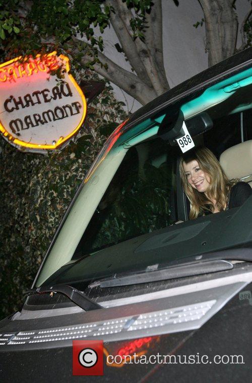 Mira Sorvino leaving Chateau Marmont Los Angeles, California