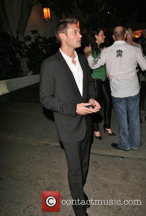 Ryan Seacrest leaving Chateau Marmont
