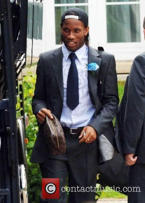 Didier Drogba The Chelsea football squad leaving The...
