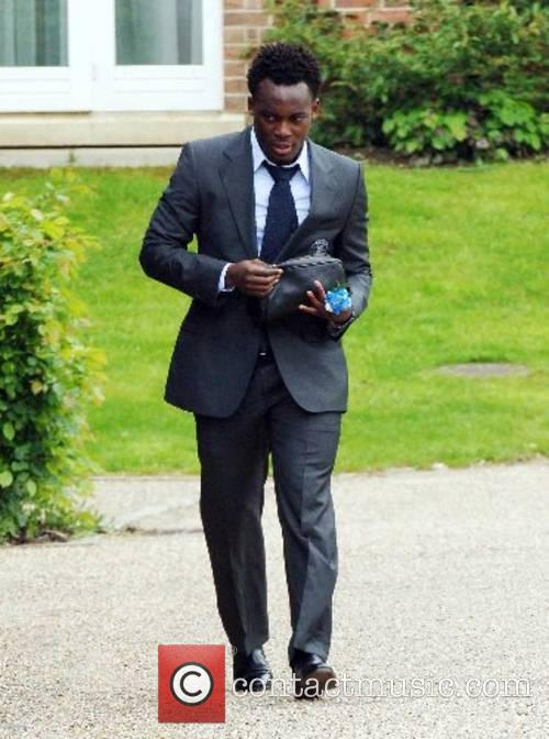 Michael Essien The Chelsea football squad leaving The...
