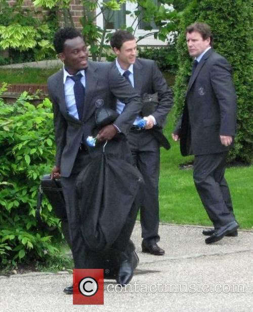 Michael Essien and Wayne Bridge The Chelsea football...