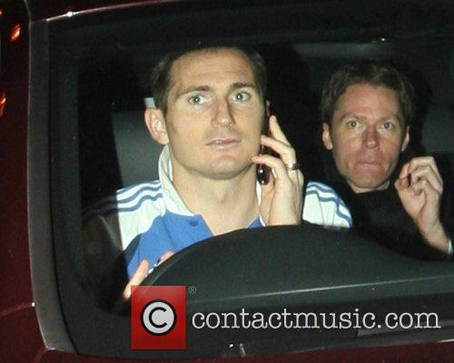 Frank Lampard speeds off in his car from...