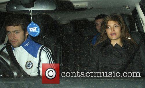 Joe Cole and Carly Zucker leave Stamford Bridge...