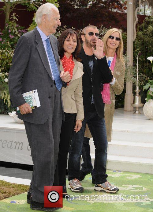 George Martin, Olivia Harrison and Ringo Starr 2
