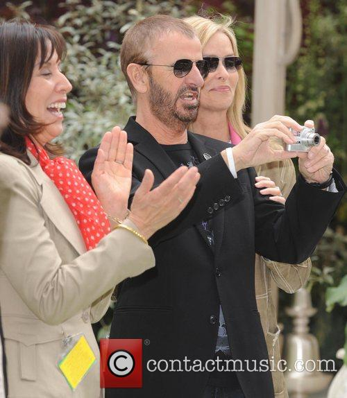Olivia Harrison and Ringo Starr 5