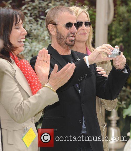 Olivia Harrison and Ringo Starr 5