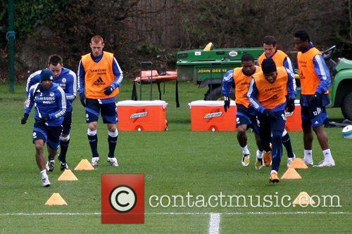 Ashley Cole, John Terry, Steve Sidwell, Didier Drogba,...