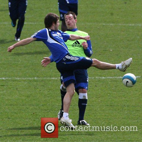 Joe Cole and John Terry  during a...