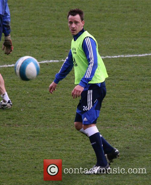During a Chelsea Football Club training session, in...