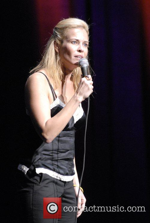 Chelsea Handler performing live at the Wiltern Theatre...
