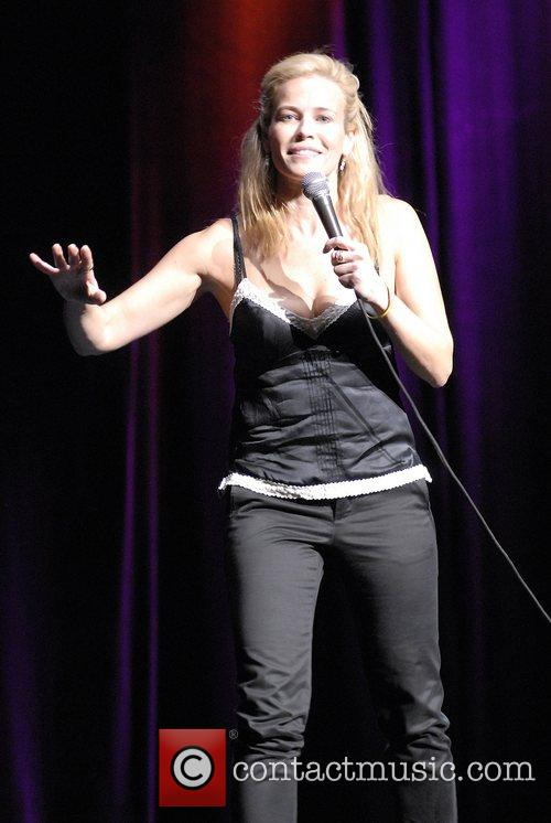 Chelsea Handler performing live at the Wiltern Theatre