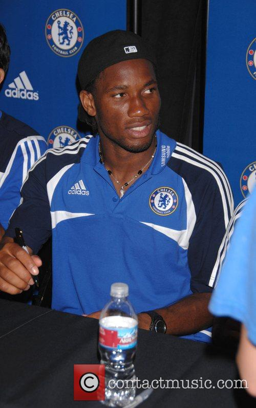 Didier Drogba Chelsea FC make an exclusive appearance...