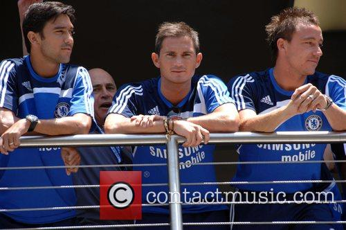Paulo Ferreira, John Terry and Frank Lampard Chelsea...