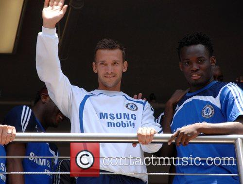 Andriy Shevchenko and Michael Essien Chelsea FC make...