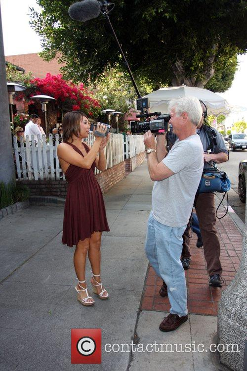 Spotted filming segments of 'The Insider' for Entertainment...