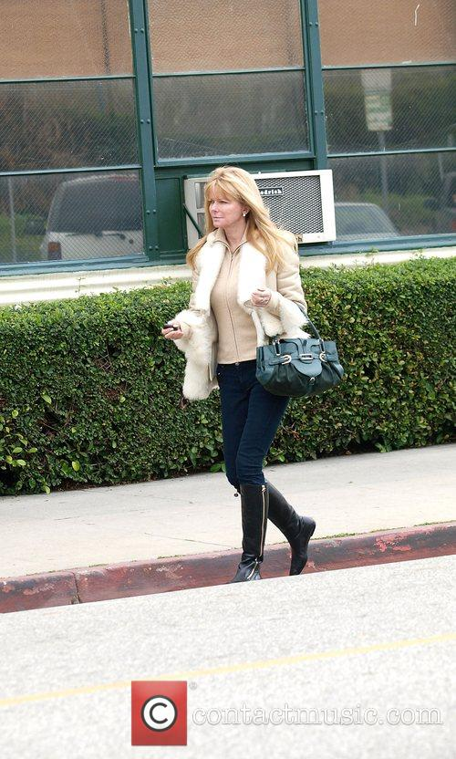Leaving the Salon in Beverly Hills