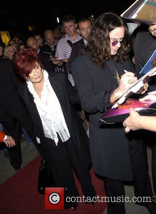 Sharon Osbourne and Ozzy Osbourne leaving the Cambridge...