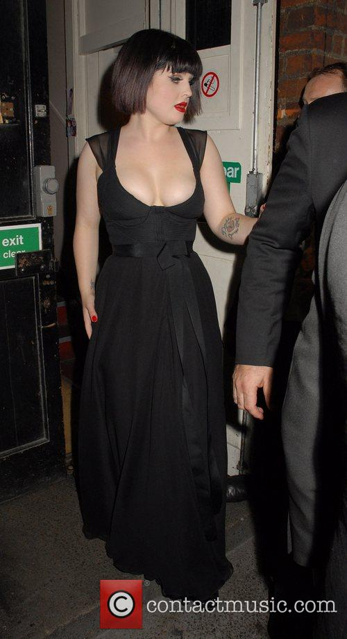 Kelly Osbourne leaving the Cambridge Theatre after appearing...