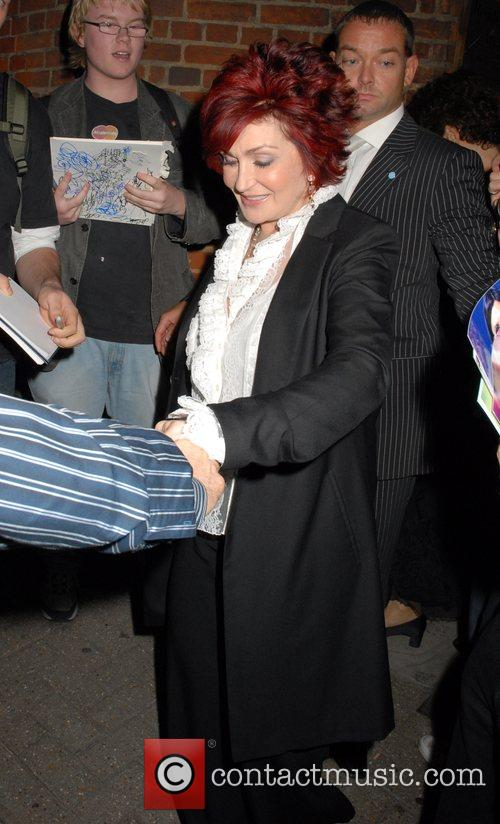 Sharon Osbourne leaving the Cambridge Theatre after seeing...