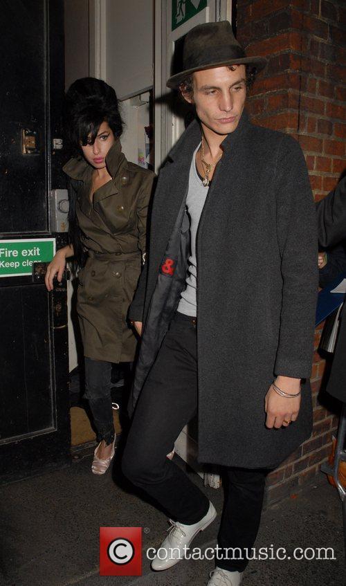 Amy Winehouse and Blake Fielder-Civil leaving the Cambridge...