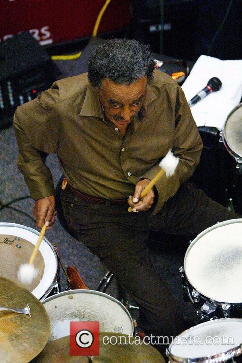 Jazz percussionist Foreststorn 'Chico' Hamilton performs 12