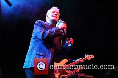 Rob Harris and his band performing live at...