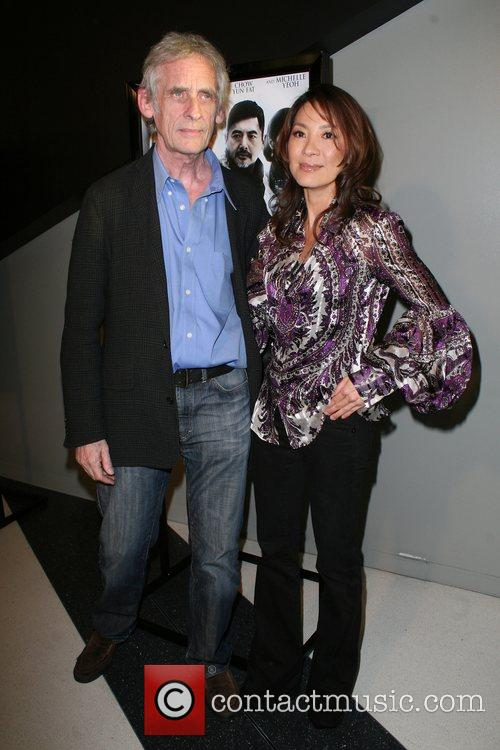 Michelle Yeoh and Roger Spottiswoode Premiere of 'The...