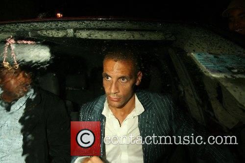 Rio Ferdinand leaving ChinaWhite Nightclub