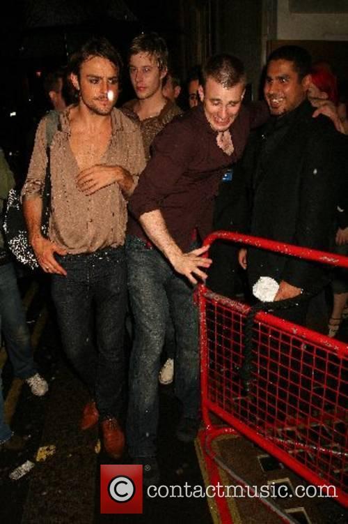 Chris Evans leaving ChinaWhite Nightclub