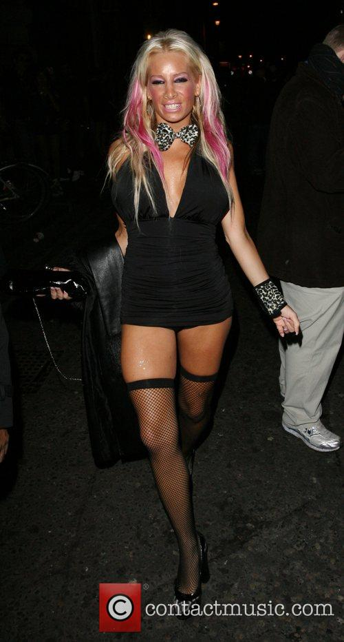 Glamour model Summer Bianca Gascoigne's 21st birthday party...