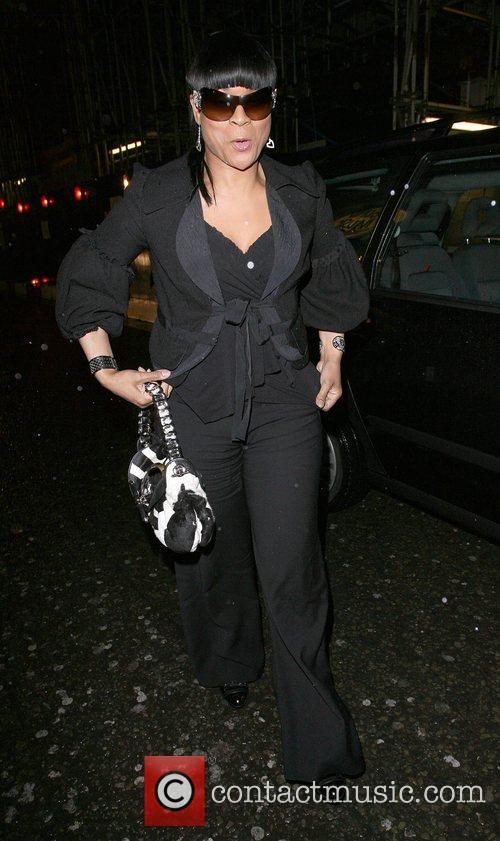 Gabrielle leaving Chinawhite nightclub London, England