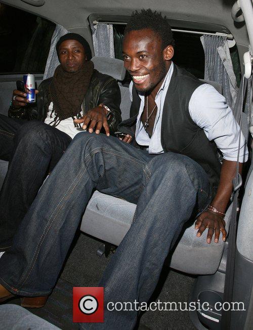 Chelsea midfielder Michael Essien leaving Chinawhite nightclub London,...