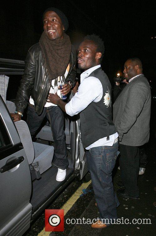 Chelsea midfielder Michael Essien leaving Chinawhite nightclub