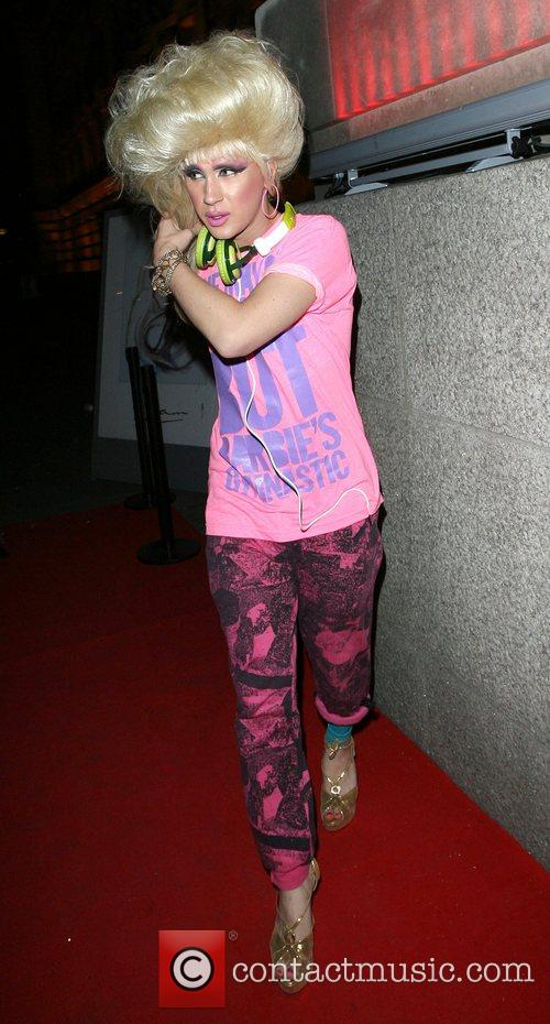 Jodie Harsh leaving the Chinese New Year Party,...