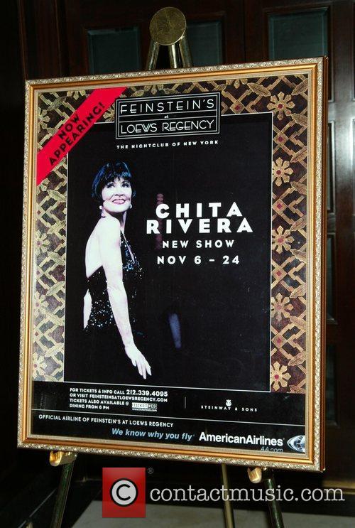 Chita Rivera  backstage after Chita Rivera's Opening...
